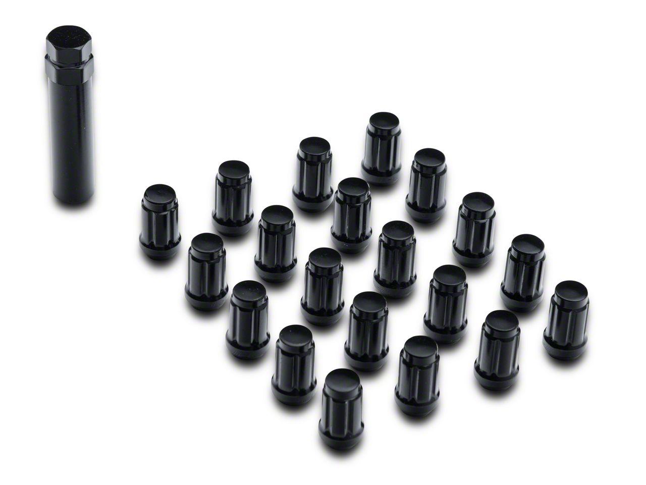 Teraflex Black 6 Spline Drive Lug Nut Kit - 1/2 in. x 20 (07-18 Jeep Wrangler JK)