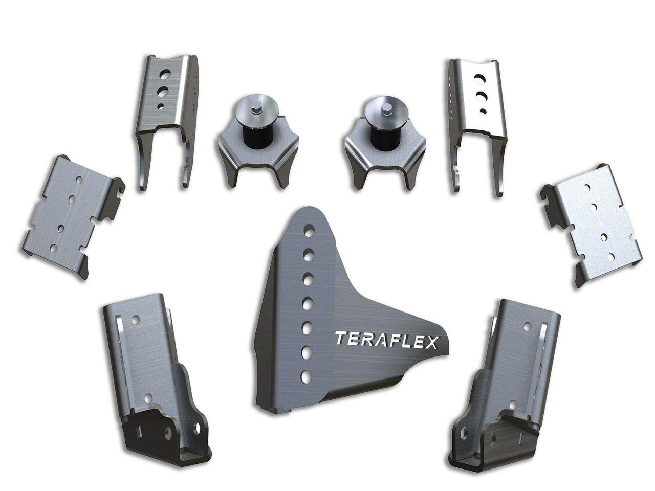 Teraflex Rear CRD60 Axle Bracket Kit (07-18 Jeep Wrangler JK)