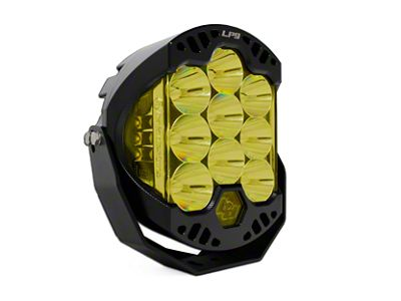 Baja Designs 8 in. LP9 Racer Edition Round Amber LED Light - Spot Beam