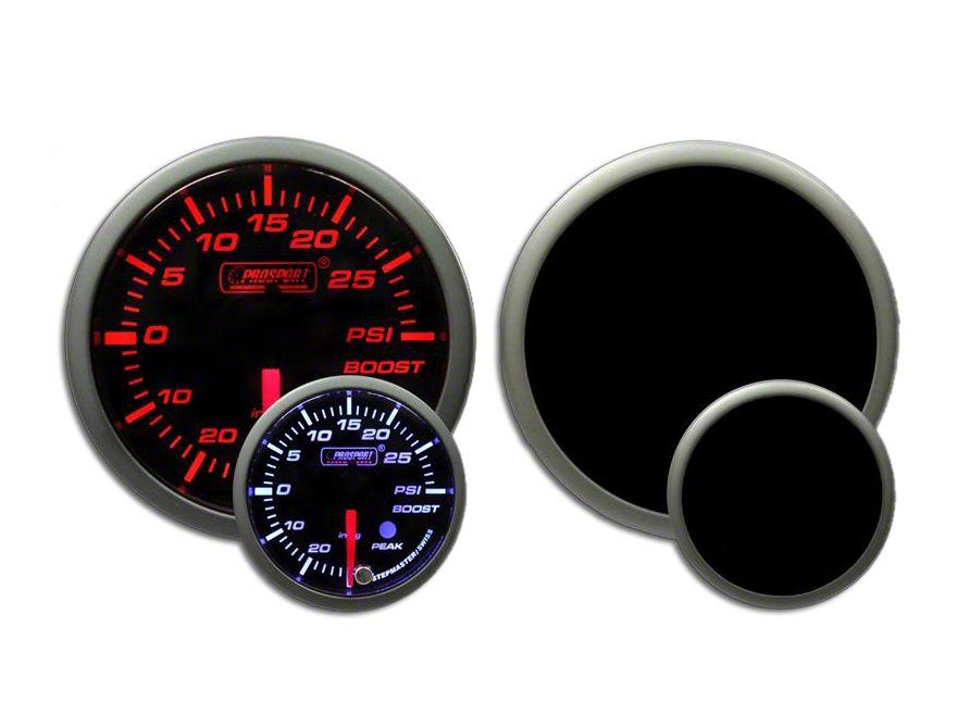 Prosport Dual Color Premium Boost Gauge - Electrical - Amber/White (97-18 Jeep Wrangler TJ, JK & JL)