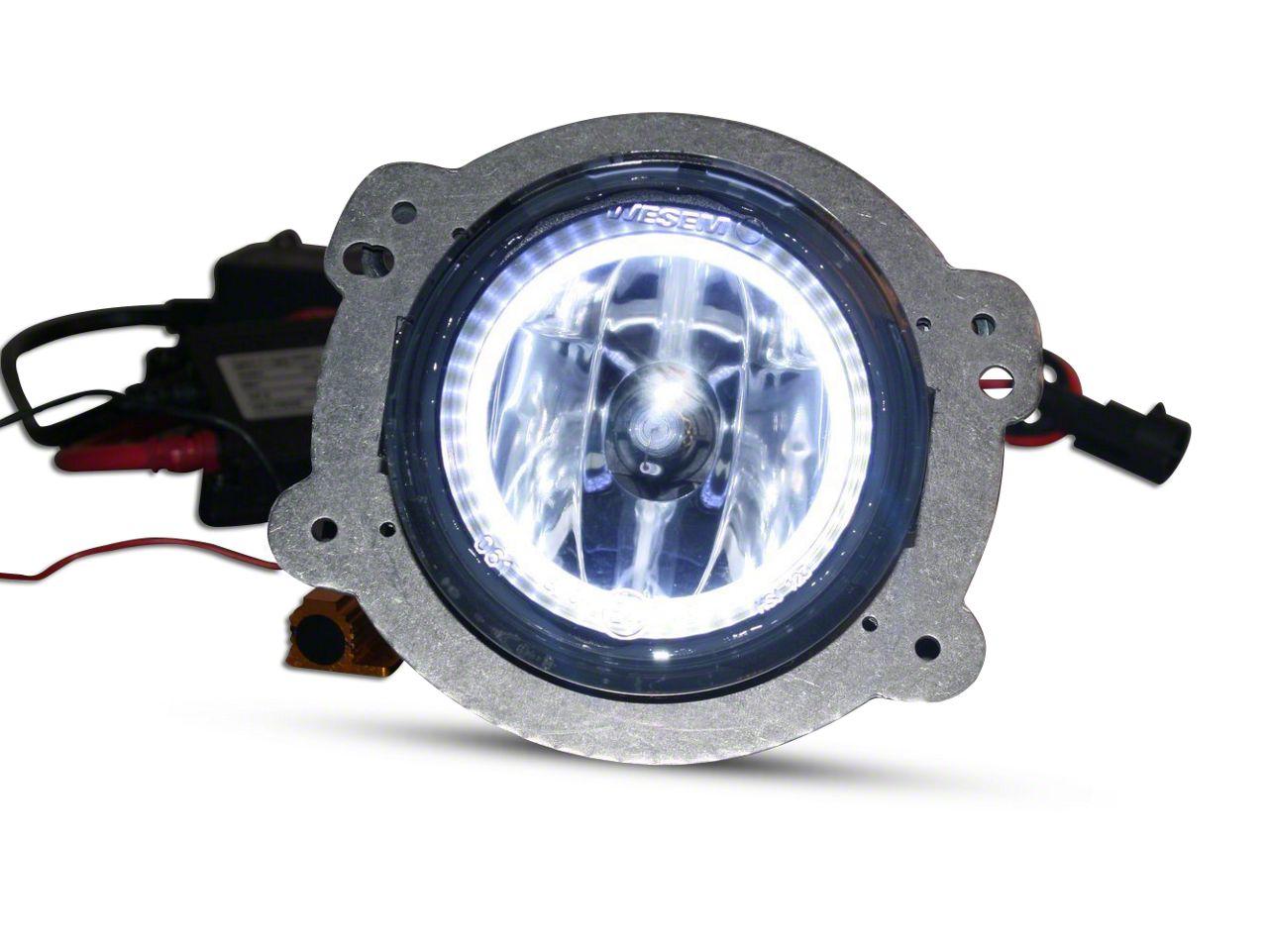 Delta 3.5 in. 3088 Series Xenon Bumper Fog Light Kit w/ Halos (07-18 Jeep Wrangler JK)