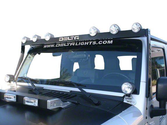 Delta Bullet H.I.D. SkyBar (07-18 Jeep Wrangler JK; 2018 Jeep Wrangler JL)