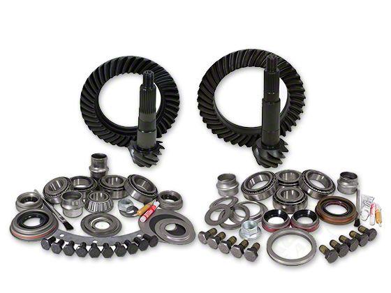 Yukon Gear Dana 30 Front Axle/44 Rear Axle Ring Gear and Pinion Kit w/ Install Kit - 4.56 Gears (87-95 Jeep Wrangler YJ)