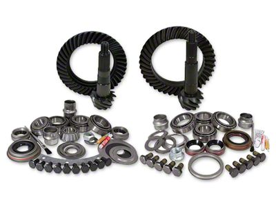 Yukon Gear Dana 30 Front Axle/44 Rear Axle Ring Gear and Pinion Kit w/ Install Kit - 4.56 Gears (07-18 Jeep Wrangler JK, Excluding Rubicon)