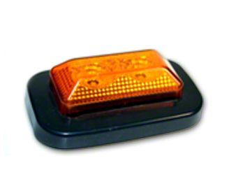 Delta 3.25x2 in. Rectangular Clearance Light - Red