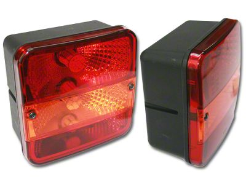 Delta 5-1/2 in. Square LED Tail Light (87-18 Jeep Wrangler YJ, TJ, JK & JL)