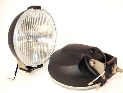 Delta 800H Series Black Round Fog Light