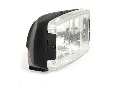 Delta 850H Series Black Rectangular Driving Light