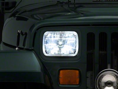 Delta Rectangular LED Conversion Headlights (87-95 Jeep Wrangler YJ)
