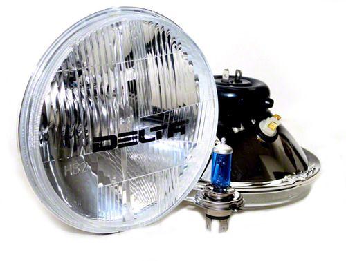 Delta 7 in. Xenon Headlights w/ City Light Kit (97-06 Jeep Wrangler TJ)