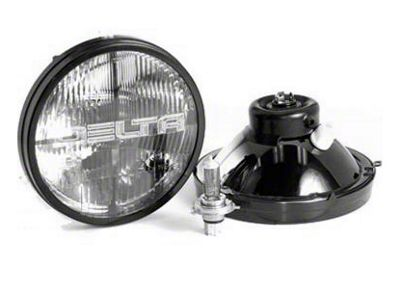 Delta Quad-Bar Halogen Headlights w/ Parking Lights (97-06 Jeep Wrangler TJ)