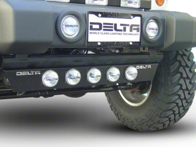 Delta Combo Xenon Ground Light Bar w/ Rock Crawling Lights (97-18 Jeep Wrangler TJ, JK & JL)