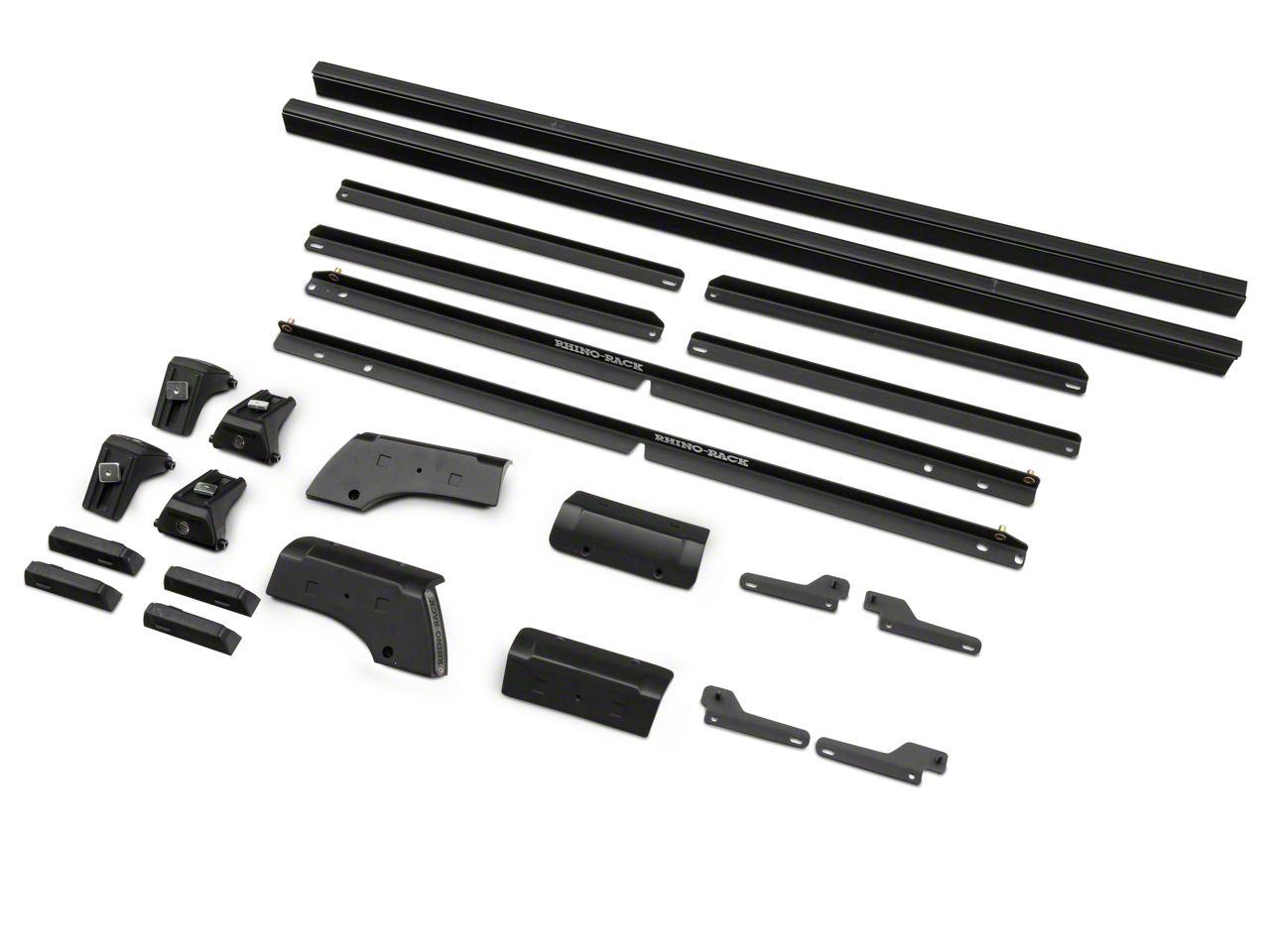Rhino-Rack Heavy Duty RLT600 2-Bar Backbone Roof Rack - Black (07-18 Jeep Wrangler JK 2 Door)