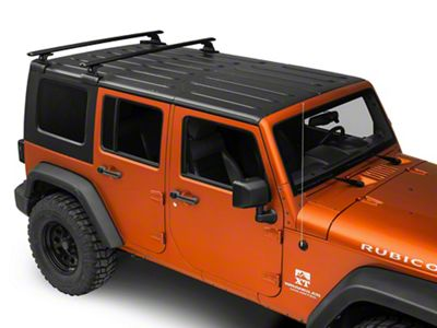 Rhino-Rack Vortex RLT600 2-Bar Backbone Roof Rack - Black (07-18 Jeep Wrangler JK 4 Door)