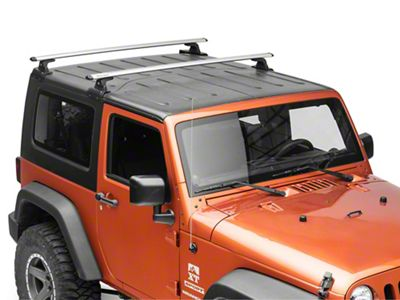 Rhino-Rack Vortex RLT600 2-Bar Backbone Roof Rack - Silver (07-18 Jeep Wrangler JK 2 Door)