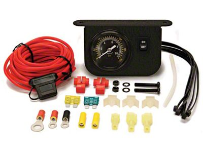 Viair Illuminated Dash Panel Gauge Kit - Black Face (87-18 Jeep Wrangler YJ, TJ, JK & JL)