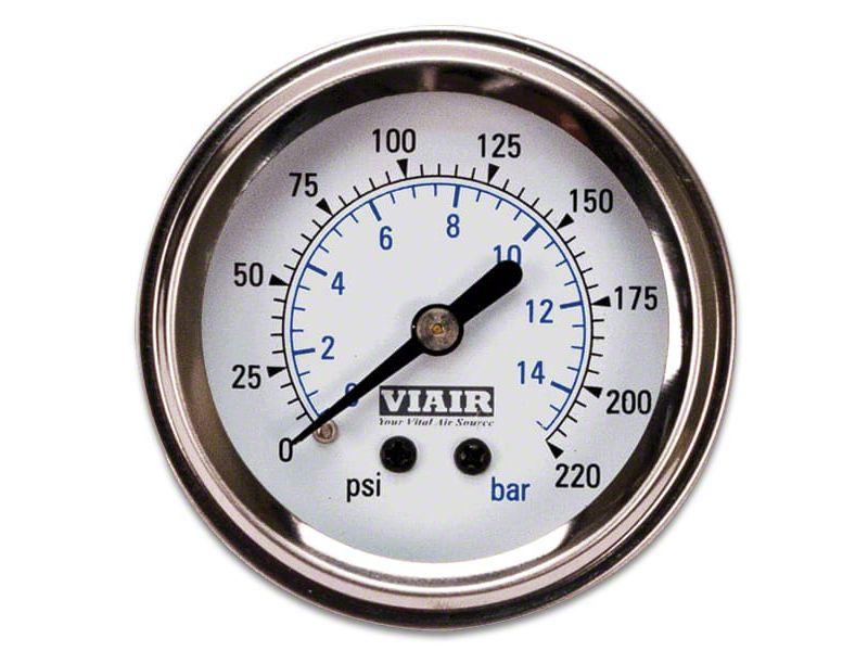 Viair Single Needle Air Pressure Gauge - White Face