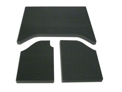 Boom Mat Sound Deadening Rear Side Window - Black (11-18 Jeep Wrangler JK)