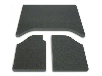 Boom Mat Leather Look Sound Deadening Rear Side Window - Black (11-18 Jeep Wrangler JK)