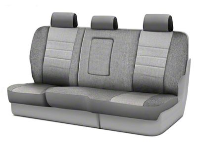 Fia Custom Fit Tweed Rear Seat Cover - Gray (07-18 Jeep Wrangler JK 4 Door)