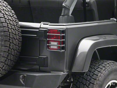 RedRock 4x4 Tail Light Guards - Textured Black (07-18 Jeep Wrangler JK)