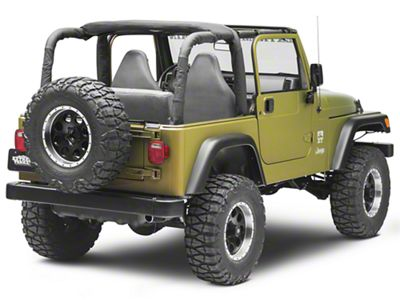 MasterTop Sport Bar Covers - Black Denim (97-02 Jeep Wrangler TJ)