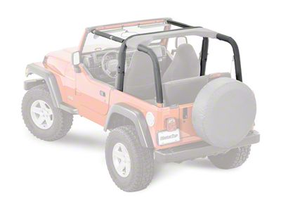 MasterTop Sport Bar Covers - Black Diamond (03-06 Jeep Wrangler TJ)