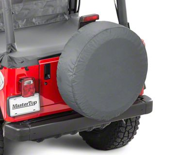 MasterTop Tire Cover - Black Diamond (87-18 Jeep Wrangler YJ, TJ, JK & JL)