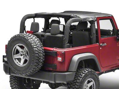 MasterTop Bimini Top - Black Diamond (07-18 Jeep Wrangler JK 2 Door)