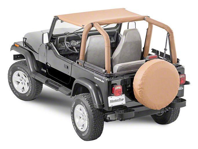 MasterTop Bimini Top - Black Diamond (97-06 Jeep Wrangler TJ)