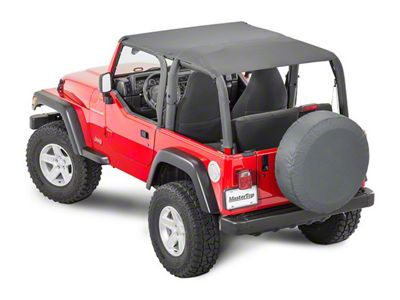 MasterTop Bimini Top Plus - Black Denim (92-95 Jeep Wrangler YJ)