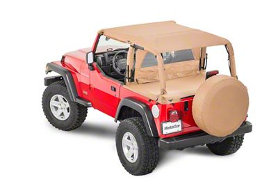 MasterTop Bimini Top Plus - Spice Denim (97-06 Jeep Wrangler TJ)