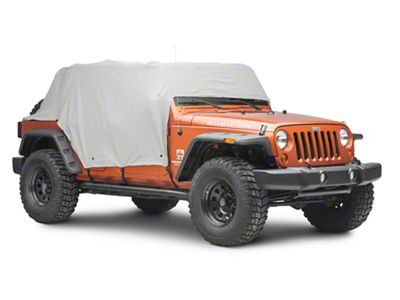 MasterTop Full Door Cab Cover - Gray Denim (07-18 Jeep Wrangler JK 4 Door)