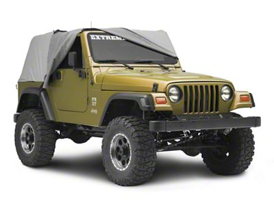 MasterTop Full Door Cab Cover - Gray Denim (92-06 Jeep Wrangler YJ & TJ)