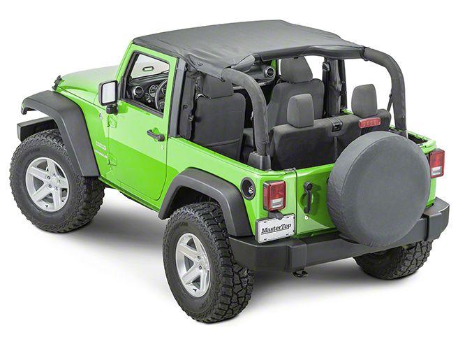 MasterTop No-Drill Windshield Header (97-06 Jeep Wrangler TJ)