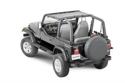 MasterTop ShadeMaker Mesh Bimini Top - Black (87-95 Jeep Wrangler YJ)