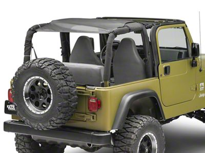 MasterTop ShadeMaker Mesh Bimini Top Plus - Black (92-06 Jeep Wrangler YJ & TJ)