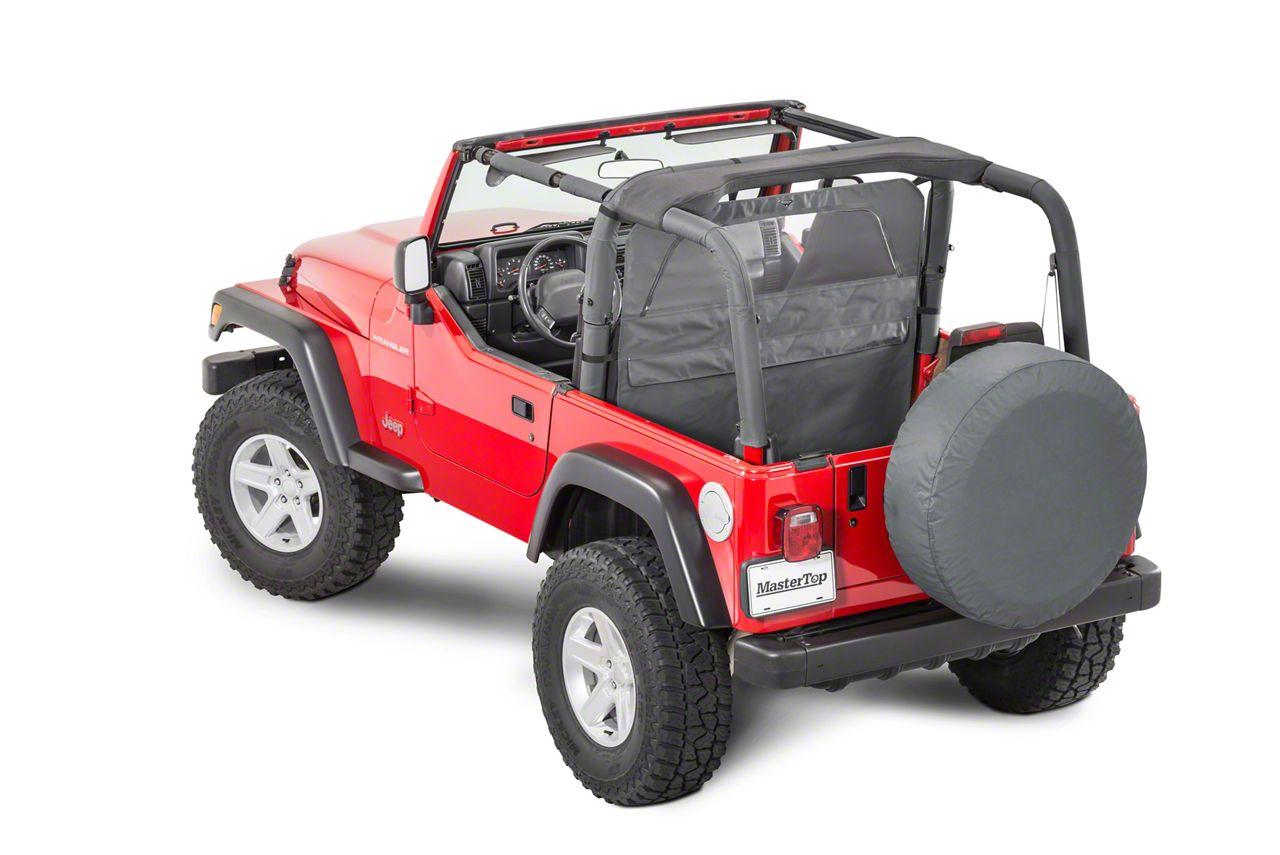MasterTop Zip Down Wind Stopper - Black Denim (87-06 Jeep Wrangler YJ & TJ)