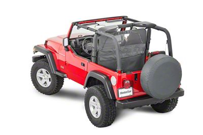 MasterTop Zip Down Wind Stopper - Black Diamond (87-06 Jeep Wrangler YJ & TJ)