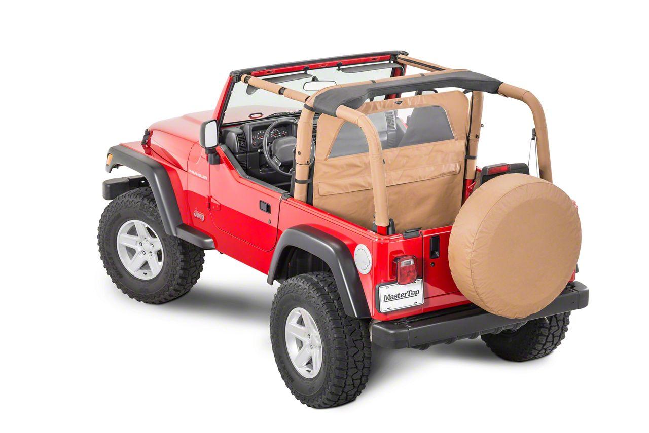 MasterTop Zip Down Wind Stopper - Spice Denim (87-06 Jeep Wrangler YJ & TJ)