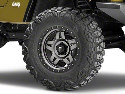 Fuel Wheels Anza Gun Metal Wheel - 17x8.5 (87-06 Jeep Wrangler YJ & TJ)