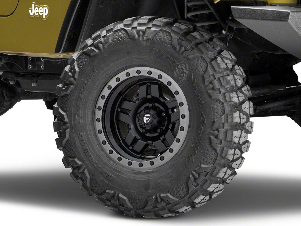 Fuel Wheels Anza Matte Black Wheel - 15x8 (87-06 Jeep Wrangler YJ & TJ)