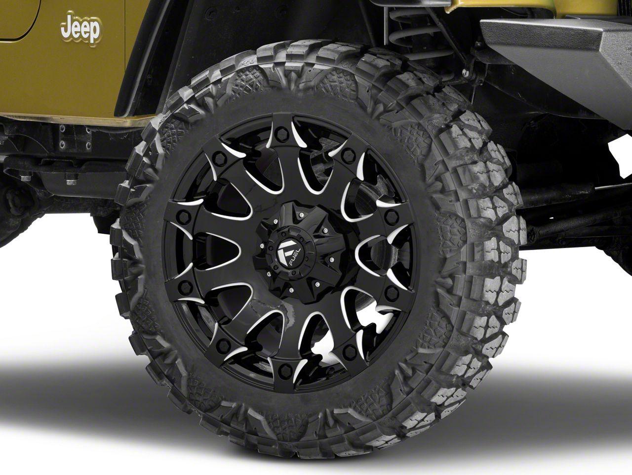 Fuel Wheels Battle Axe Gloss Black Milled Wheel - 20x9 (87-06 Jeep Wrangler YJ & TJ)