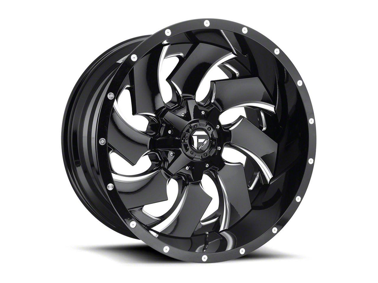 Fuel Wheels Cleaver Black Milled Wheel - 20x14 (87-06 Jeep Wrangler YJ & TJ)