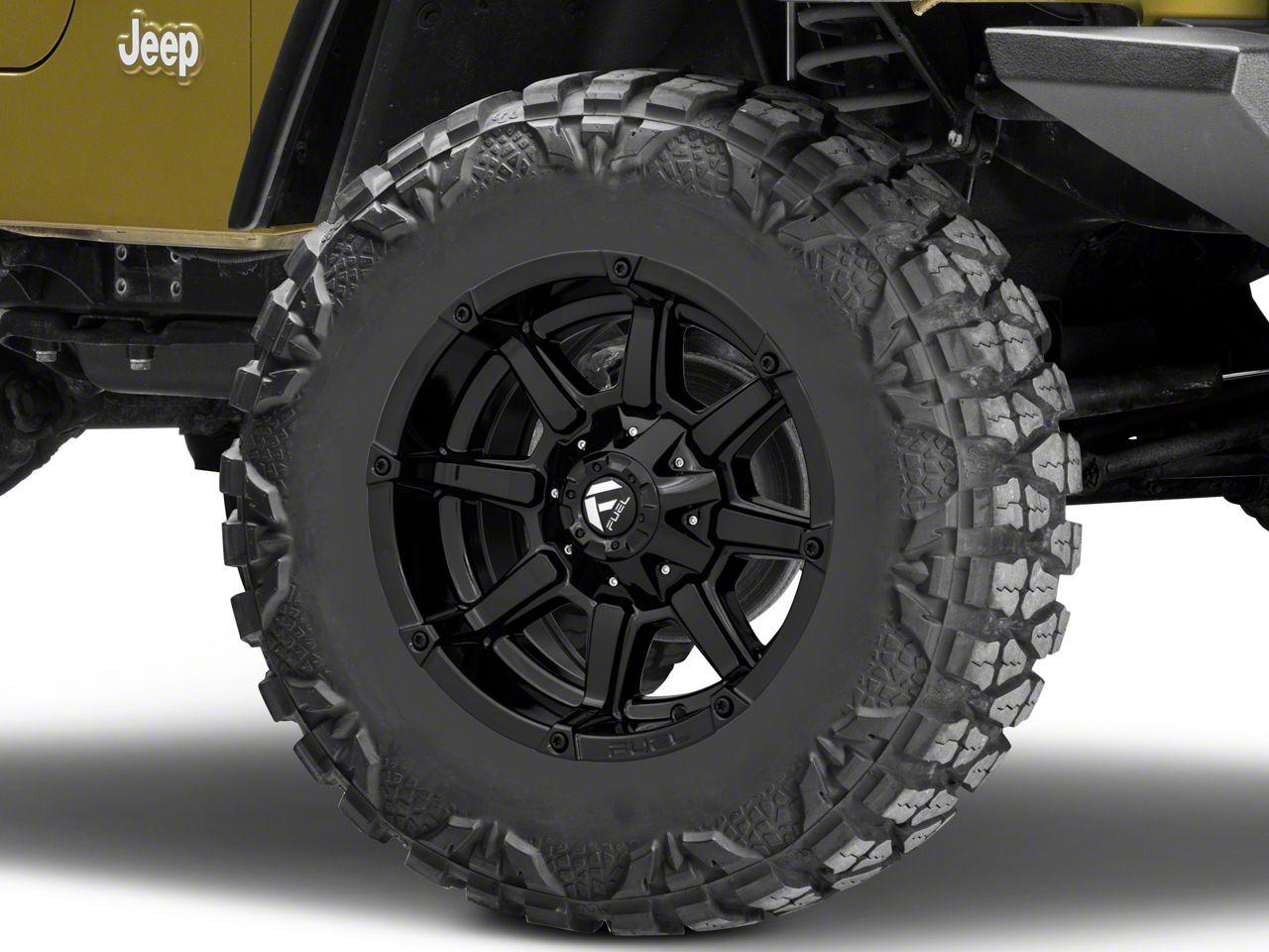 Fuel Wheels Coupler Gloss Black Wheel - 18x9 (87-06 Jeep Wrangler YJ & TJ)