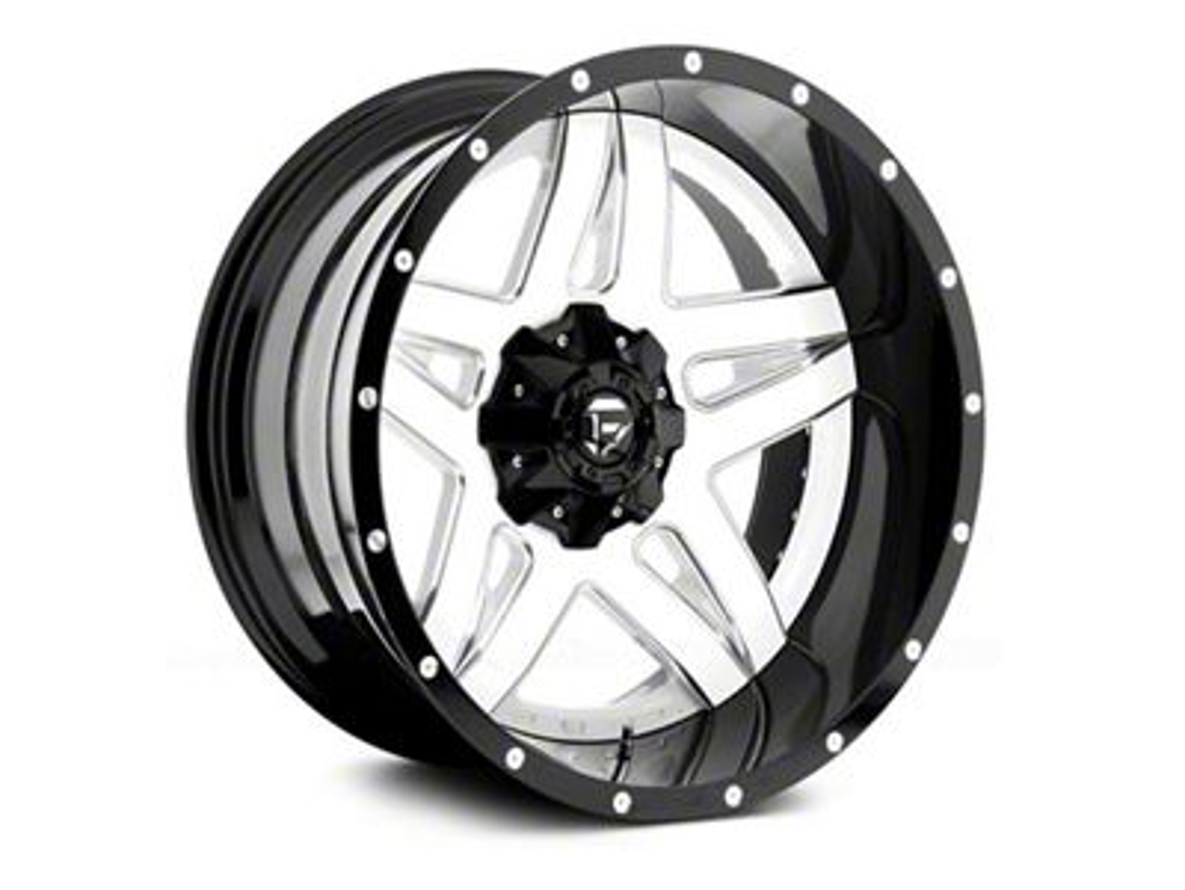 Fuel Wheels Full Blown White Milled Wheel - 20x10 (87-06 Jeep Wrangler YJ & TJ)
