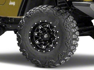 Fuel Wheels Lethal Matte Black Milled Wheel - 15x10 (87-06 Jeep Wrangler YJ & TJ)