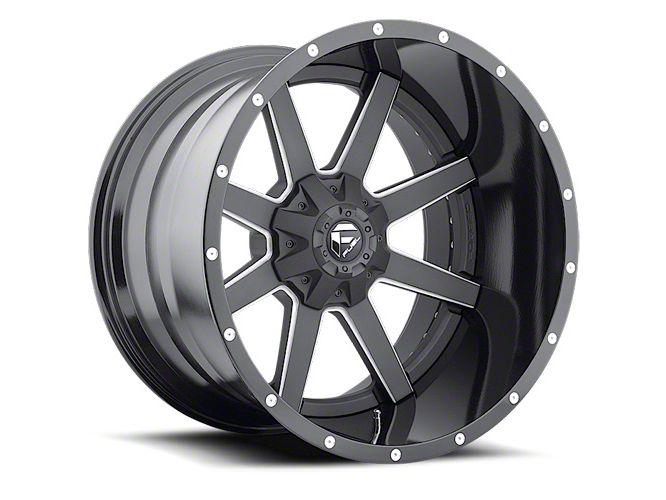 Fuel Wheels Maverick Black Milled Wheel - 20x12 (87-06 Jeep Wrangler YJ & TJ)