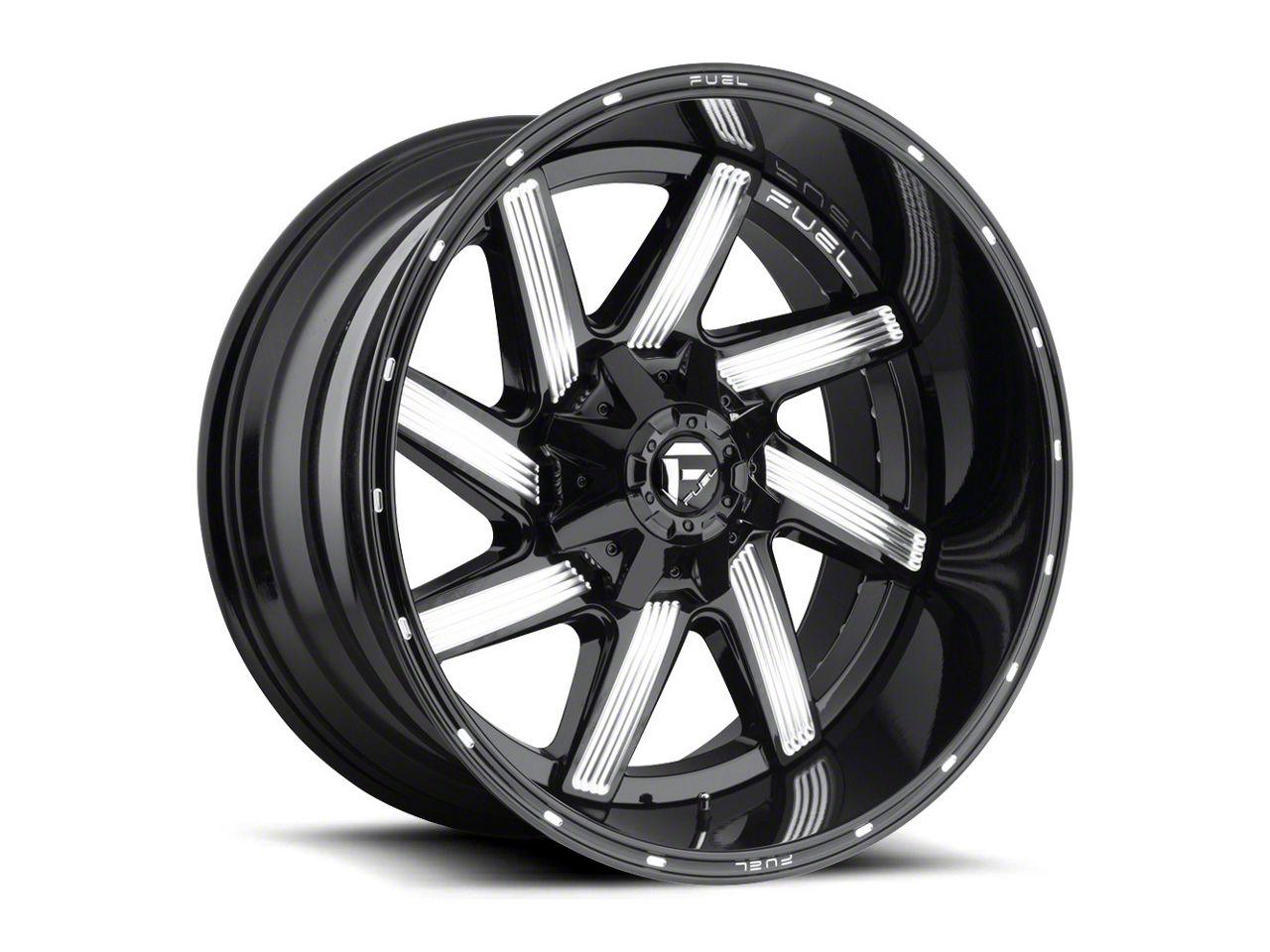 Fuel Wheels Moab Gloss Black Milled Wheel - 20x10 (87-06 Jeep Wrangler YJ & TJ)