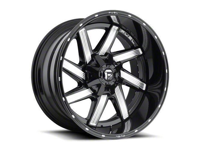 Fuel Wheels Moab Gloss Black Milled Wheel - 20x12 (87-06 Jeep Wrangler YJ & TJ)